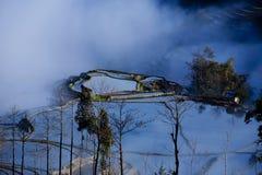 Paesaggio a terrazze, Yunnan, Cina Immagini Stock Libere da Diritti