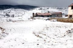 Paesaggio Teruel l'Aragona Spagna delle montagne di Gudar Immagini Stock Libere da Diritti