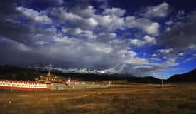 Paesaggio tibetano Fotografia Stock Libera da Diritti