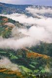 Paesaggio tibetano nuvoloso Immagini Stock Libere da Diritti
