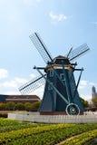 Paesaggio tipico del bello mulino a vento olandese in Ja Fotografia Stock