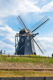 Paesaggio tipico del bello mulino a vento olandese in Ja Immagini Stock