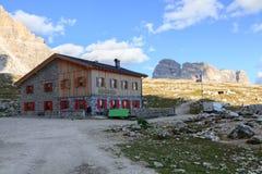 Paesaggio tipico della montagna nelle dolomia Fotografia Stock Libera da Diritti