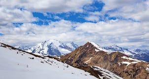 Paesaggio tipico della montagna nelle dolomia trav in Italia, Europa Fotografie Stock