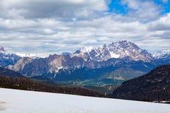 Paesaggio tipico della montagna nelle dolomia trav in Italia, Europa Immagine Stock Libera da Diritti