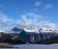 Paesaggio tipico della montagna nelle dolomia trav in Italia, Europa Fotografia Stock