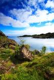 Paesaggio tipico della Norvegia Fotografia Stock Libera da Diritti
