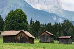 Paesaggio tipico delle dolomia di estate Fotografia Stock