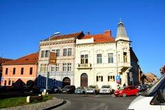 Paesaggio tipico di Brasov del centro Fotografie Stock Libere da Diritti