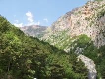 Paesaggio tipico di panorama della montagna Immagini Stock