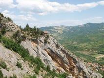Paesaggio tipico di panorama della montagna Fotografie Stock Libere da Diritti