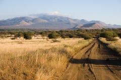 Paesaggio tipico nella sosta nazionale di Tsavo Fotografie Stock