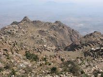 Paesaggio tipico nelle montagne del Yemen Immagine Stock Libera da Diritti