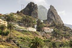Paesaggio tipico sull'isola di Gomera, Spagna Fotografia Stock