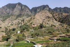Paesaggio tipico sull'isola di Gomera, Spagna Fotografie Stock
