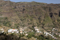 Paesaggio tipico sull'isola di Gomera, Spagna Immagine Stock Libera da Diritti