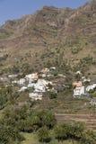 Paesaggio tipico sull'isola di Gomera, Spagna Fotografia Stock Libera da Diritti
