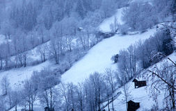 Paesaggio in Tirolo, Austria di inverno Fotografie Stock Libere da Diritti