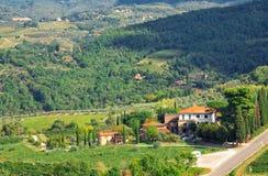 Paesaggio in Toscana immagine stock