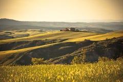 Luce ed ombre sulle colline toscane Fotografia Stock