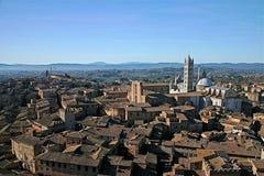 Paesaggio toscano a Siena Immagini Stock
