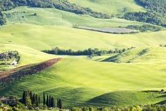 Paesaggio toscano tipico in primavera fotografie stock libere da diritti