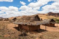 Paesaggio tradizionale della collina del Madagascar Fotografie Stock Libere da Diritti