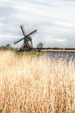 Paesaggio tradizionale HDR del mulino a vento Fotografia Stock
