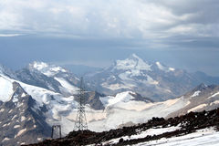 Paesaggio triste della montagna Fotografie Stock Libere da Diritti
