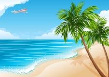 Paesaggio tropicale Fotografia Stock Libera da Diritti