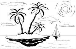 Paesaggio tropicale illustrazione vettoriale