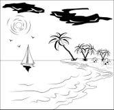 Paesaggio tropicale royalty illustrazione gratis