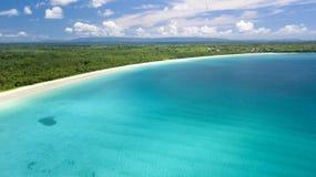 Paesaggio tropicale aereo del mare Fotografie Stock