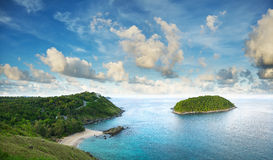 Paesaggio tropicale del mare Immagini Stock