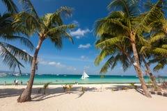 Paesaggio tropicale dell'isola di Boracay, Filippine fotografia stock