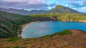 Paesaggio tropicale della baia Fotografia Stock Libera da Diritti