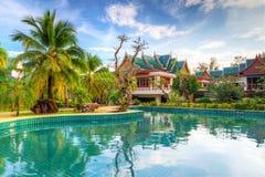 Paesaggio tropicale della località di soggiorno in Tailandia Immagine Stock