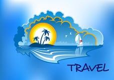 Paesaggio tropicale della spiaggia Fotografia Stock Libera da Diritti