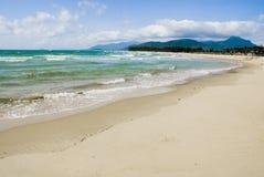 Paesaggio tropicale della spiaggia, isola di Hainan della Cina Fotografia Stock Libera da Diritti
