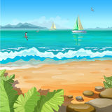 Paesaggio tropicale marino Fotografie Stock