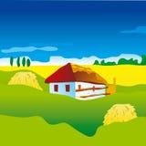 Paesaggio ucraino Illustrazione di Stock
