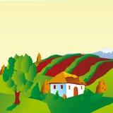 Paesaggio ucraino Royalty Illustrazione gratis