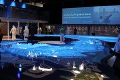 Paesaggio urbano 2010 dell'Abu Dhabi immagine stock