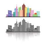 Paesaggio urbano Immagini Stock Libere da Diritti