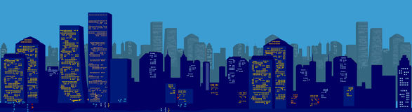 Paesaggio urbano Immagine Stock