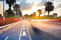 Paesaggio urbano ad alba, Valencia, Spagna Immagini Stock Libere da Diritti