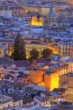 Paesaggio urbano al tramonto, Granada, Andalusia, Spagna Immagine Stock