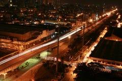 Paesaggio urbano alla notte Fotografia Stock