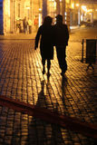 Paesaggio urbano alla notte Fotografie Stock Libere da Diritti