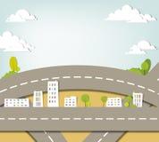 Paesaggio urbano. applique di vettore. Fotografia Stock